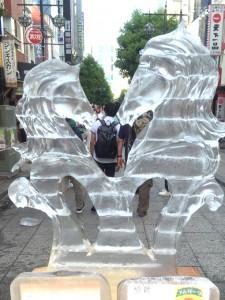 八王子 氷の彫刻 ペガサス 祭
