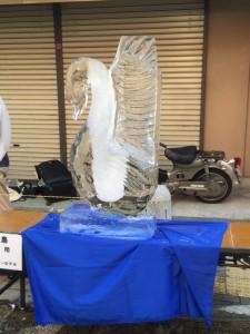 八王子 氷の彫刻 白鳥