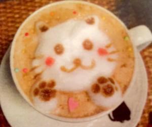 ニャプチーノ(猫のラテアート)